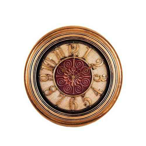 Antique Hollow Wall Clock Bronze - 14x14""