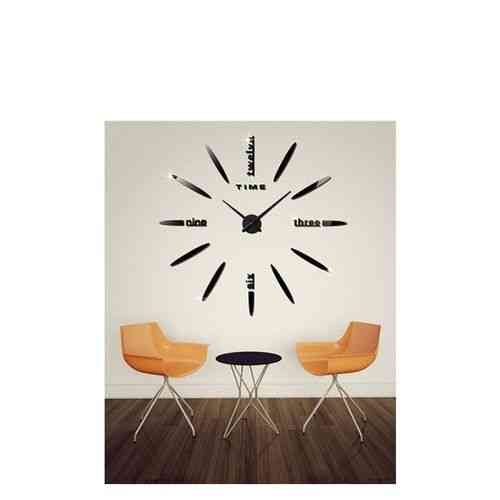 2 Designs in 1 DIY Wall Clock - Black