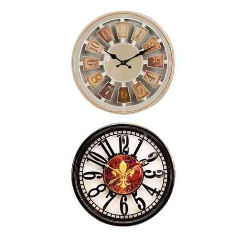 "Pack of 2 Wall Clock 12x12"" - Black"