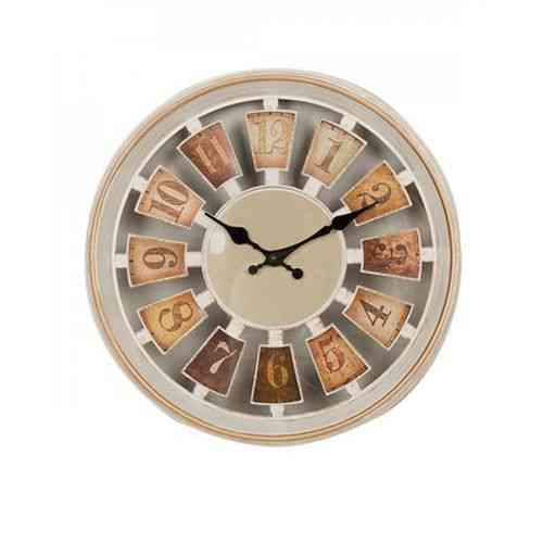 "Gold Shaded Wall Clock - 12x12"" - White-pr"
