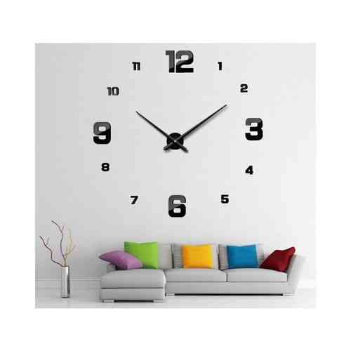 Silent DIY Wall Clock - Black - 40x40""