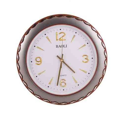 Simple And Stylish Wall Clock - Silver and Brown