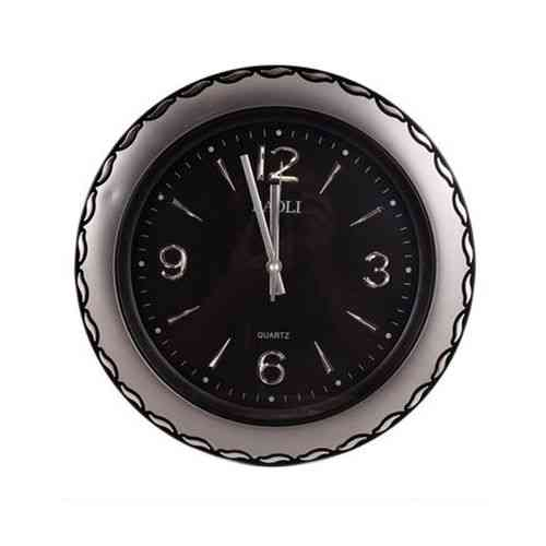 """Simple And Stylish Wall Clock 14x14""""- Silver and Black"""
