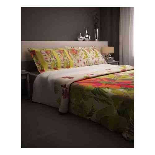Pack of 2 - Eye Catchy Lines Print Bedsheet With 1 Pillow Cover  - Light Green