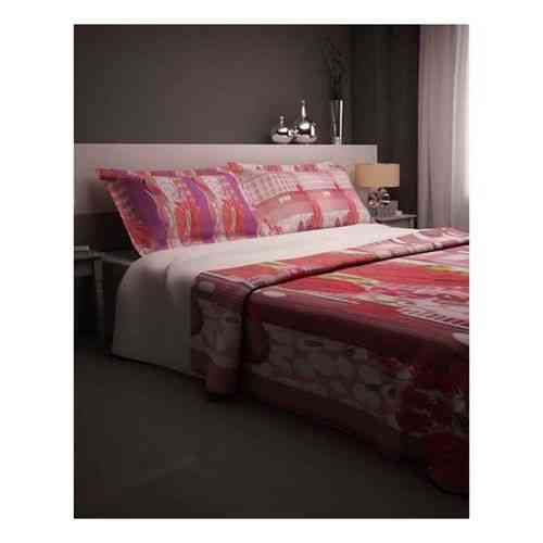 Pack of 2 - Romantic Purple Print Bedsheet With 1 Pillow Cover  - Purple