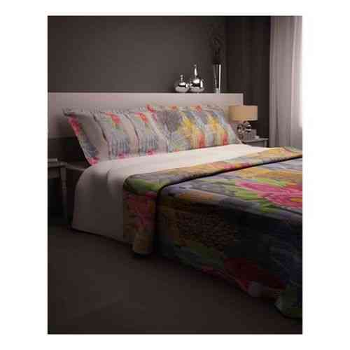 Pack of 2 - Flowers Print Bedsheeet With 1 Pillow Cover  - Blue