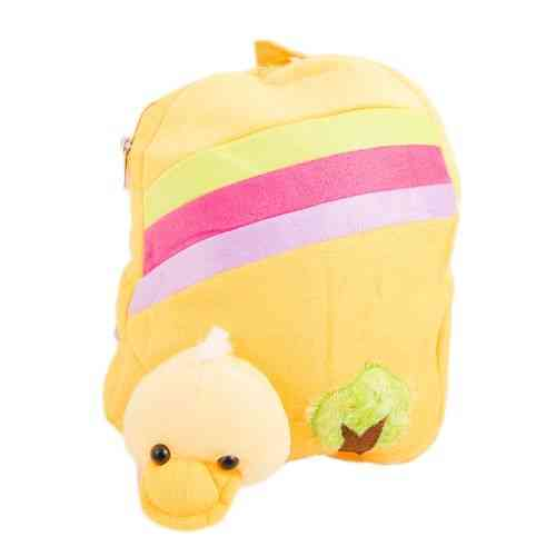 Cartoon Stuffed Toy Backpack School Bag Notebook Bag Laptop Bag Travel Bag for Kids - Yellow