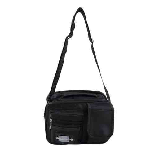 Hajj and Ziarat 4 Pockets Travel Bag and Pouch - Black