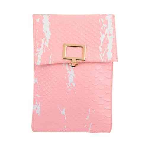 "Leather Long Belt Clutch And Short Purse For Women - 7X5"" - Pink"
