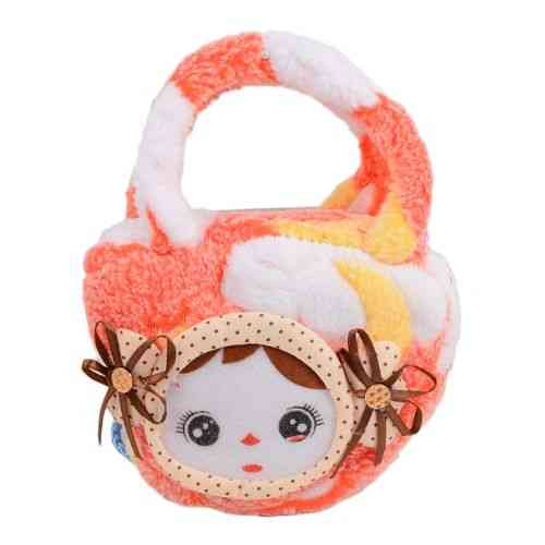 "Small Baby Stuffed Clutch for Her - 6x4"" - Orange"