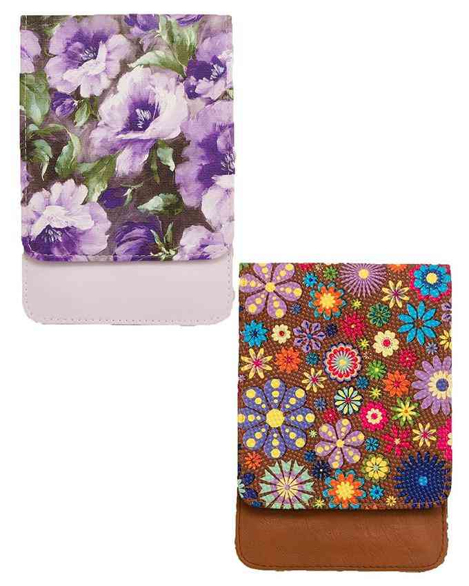 Pack of 2 Clutch for Women with Long Chain - Multicolour - C-107-108