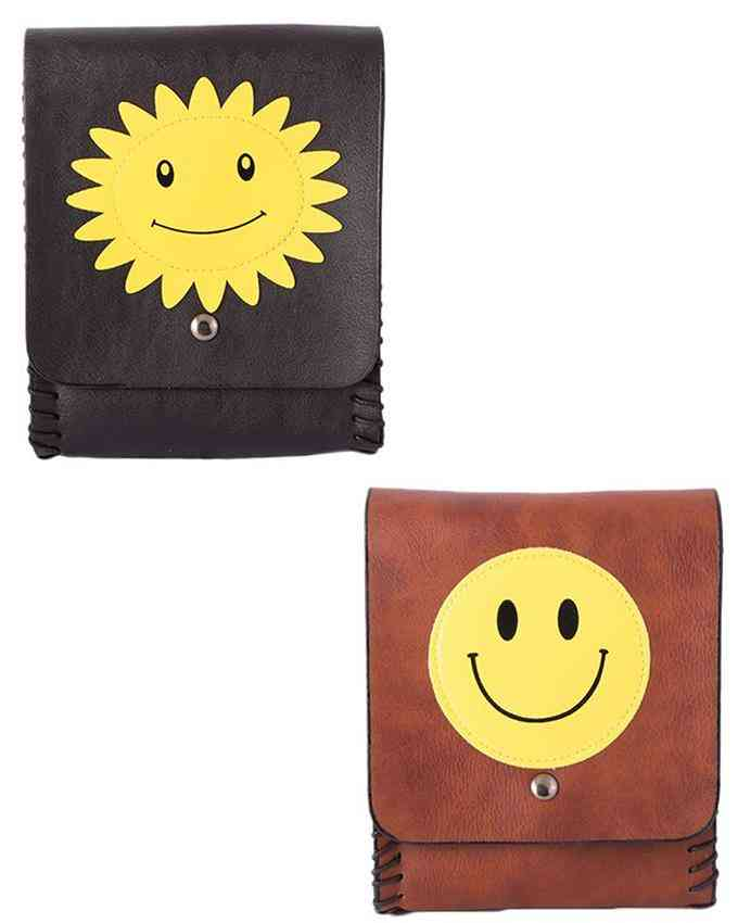 Pack of 2 Clutch With Long Belt - Multicolour - C-207-209
