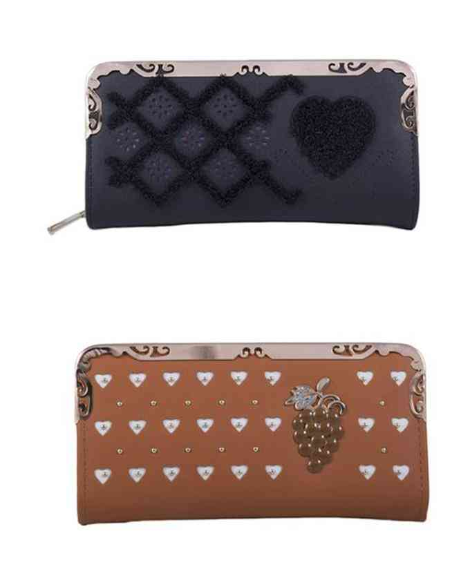 Pack of 2 Clutches for Women - Multicolour - C-260-261