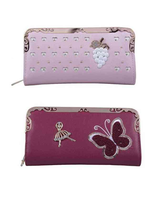Pack of 2 Clutches for Women - Multicolour - C-273-274