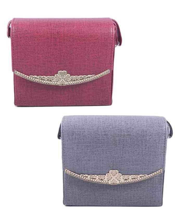 Pack of 2 Clutches for Women - Multicolour - C-300-301