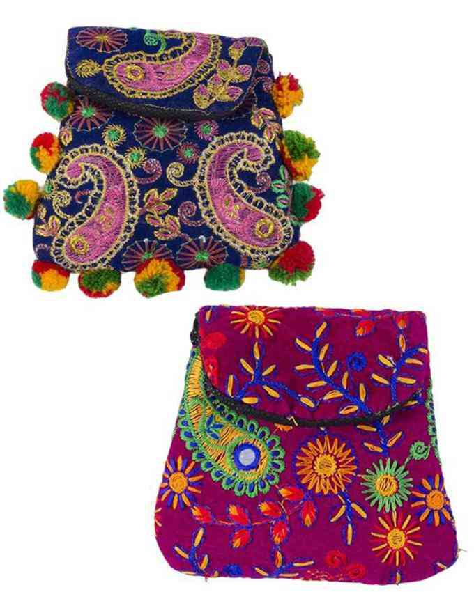 Pack of 2 Baby Stuffed Clutches For Her - Multicolour - C-321-322