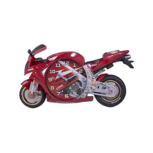Bicycle Scooter Motorbike Wall Clock Silent Non Ticking Kids Gift - Red
