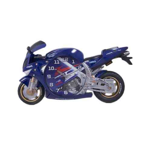 Bicycle Scooter Motorbike Wall Clock Silent Non Ticking Kids Gift - Blue