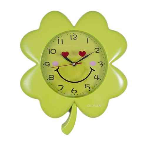 Sunflower Flower Happy Face Smiley Wall Clock Kids Room D?cor Gift - Yellow