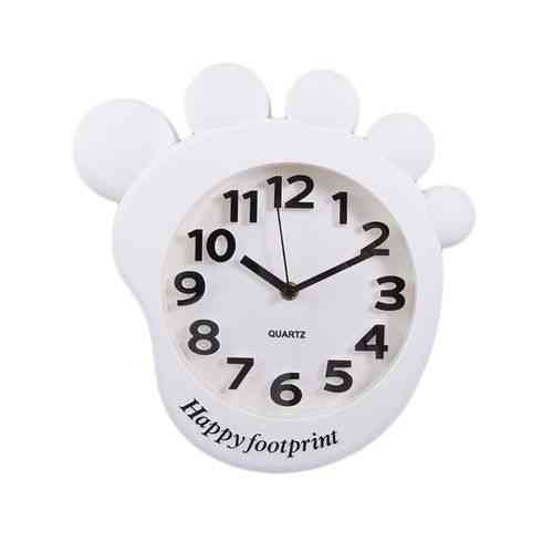 Footprint Cartoon Gorilla Monkey Foot Wall Clock Silent Kids Gift - White