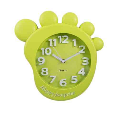Footprint Cartoon Gorilla Monkey Foot Wall Clock Silent Kids Gift - Green