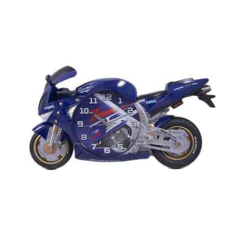 Bicycle Scooter Motorbike Wall Clock Non Ticking Kids Gift Small - Blue