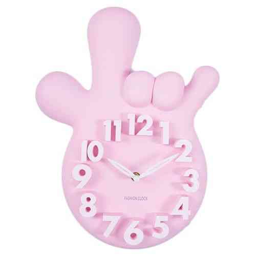Mirrorless Without Mirror Thumbs Up Victory Hand Wall Clock - Pink