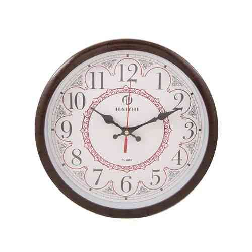 Calligraphy Print Wall Clock - Brown - 11X11""