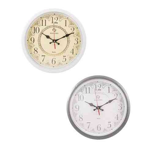 Pack of 2 - White and Silver Wall Clocks - 11x11 Inch