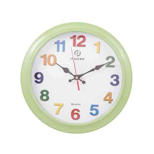 Colorful Numbers Wall Clock - Green - 11x11""