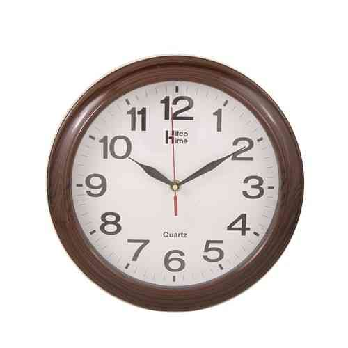 Fine Finishing Wall Clock - Brown - 12x12""