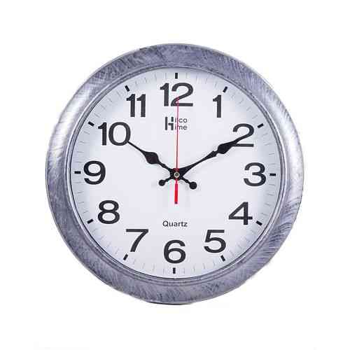 Fine Finishing Wall Clock - 12x12 Inch - Silver