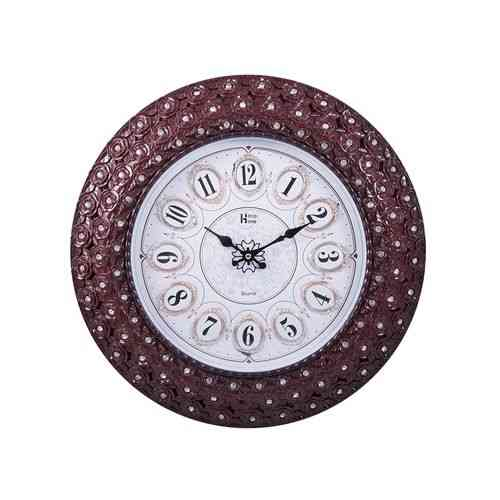 """Peacock Flower Roses Wedding Party Gift Wall Clock - 17x17"""" - Golden"""