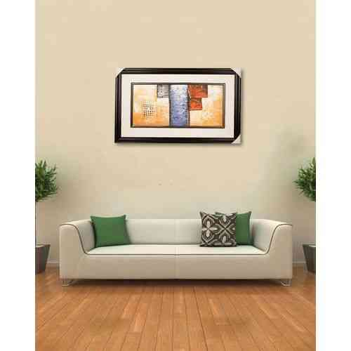 "Artist Made Wall Decor Painting - 20x33"" - Dark Brown"