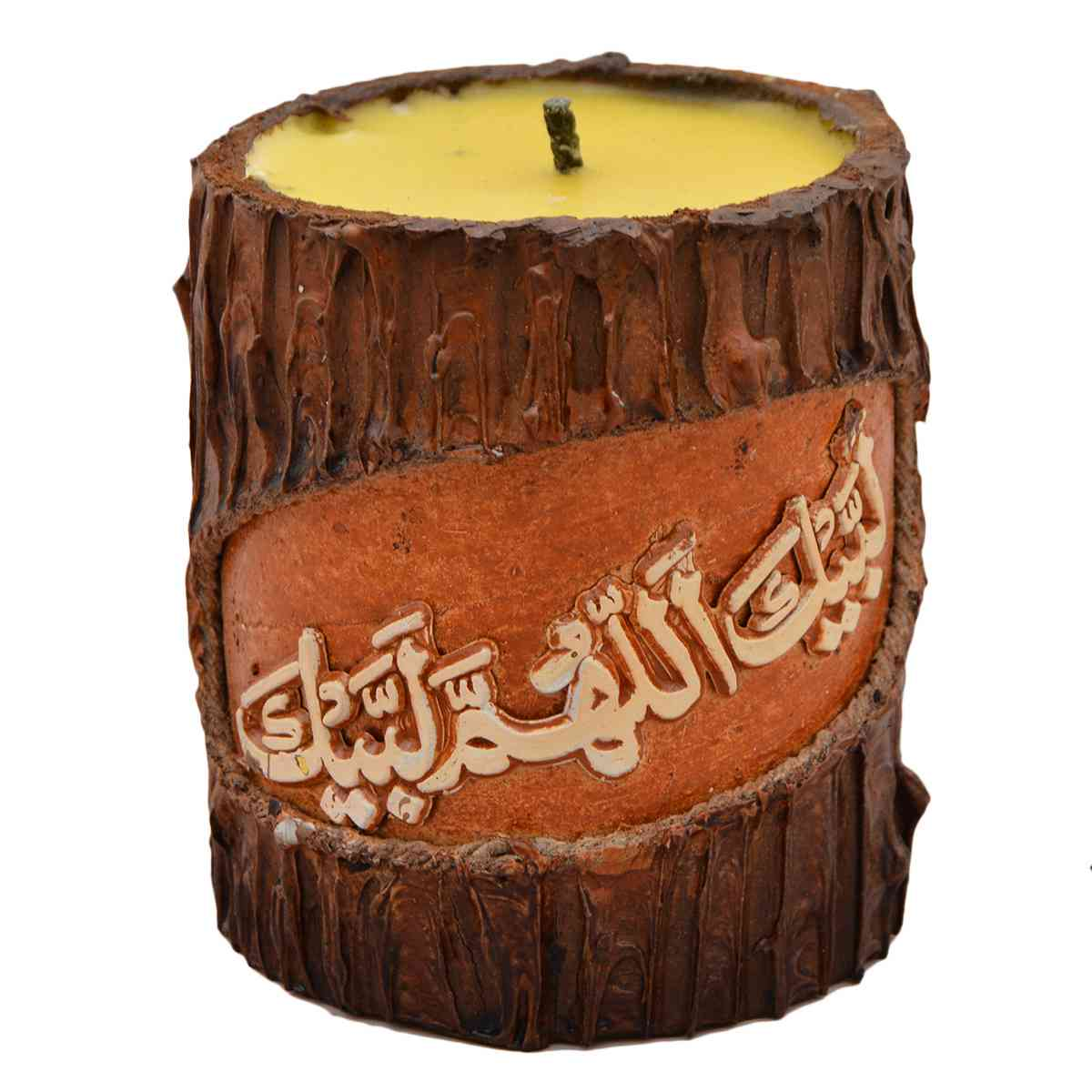 Original Wooden Calligraphic Candle for Room Decoration (Width 3 Inch x Height 4 Inch x Depth 4 Inch)