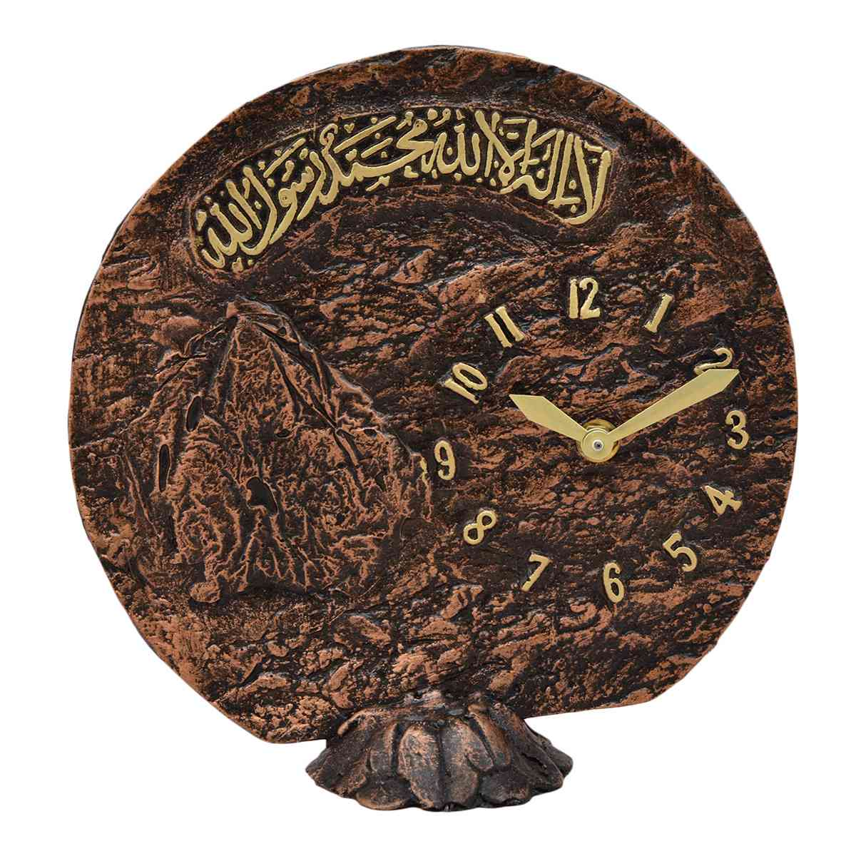 Engraved Calligraphy Table Clock for Home Decoration (Width 9 Inch x Height 9 Inch)