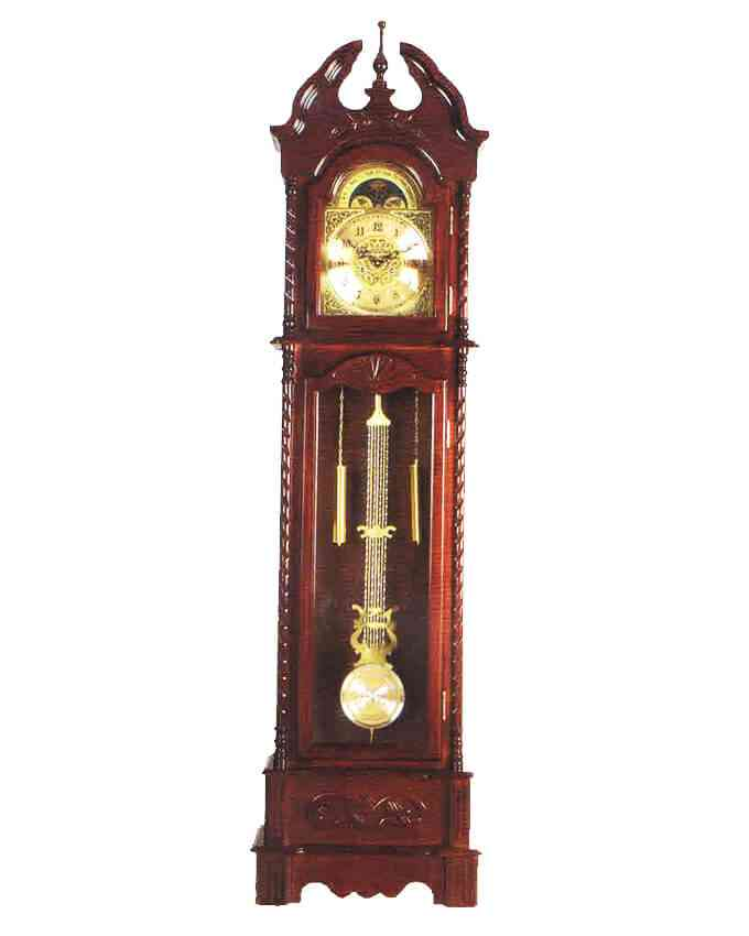 Grand Father Clock Westminster Pendulum - (20 Inches Width x 78 Inches Height, Sheesham Solid Wood, Imported, With Hourly Chimes) - C