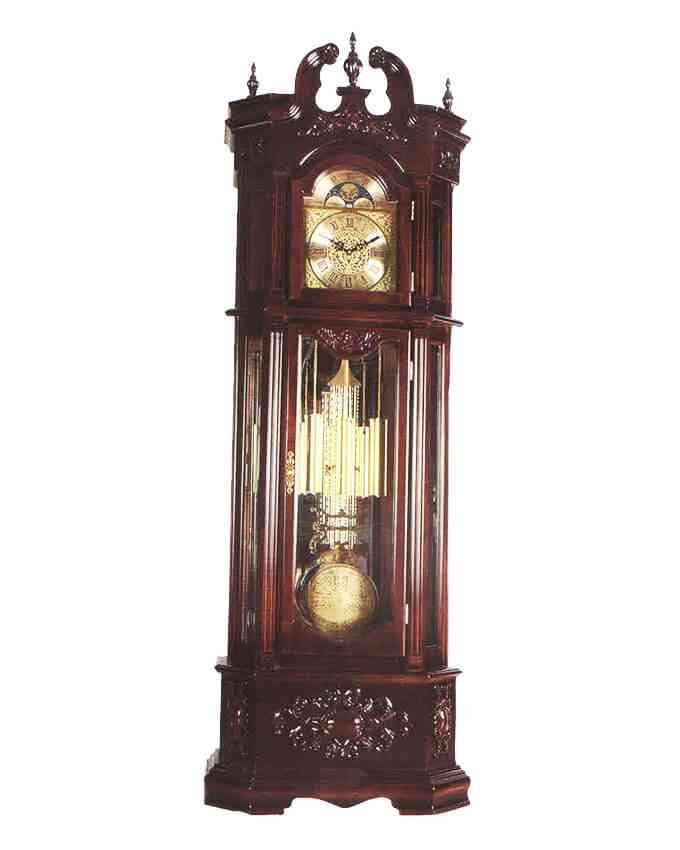 Giant King Grand Father Clock Westminster Pendulum (24 Inch Width x 96 Inch Height, Imported, Sheesham Solid Wood, With Hourly Chimes) - A