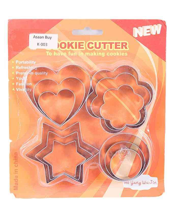 Pack of 12 Stainless Steel Cookie Cutter Cookie Maker Cookie Shaper For Kitchen Baking - Silver