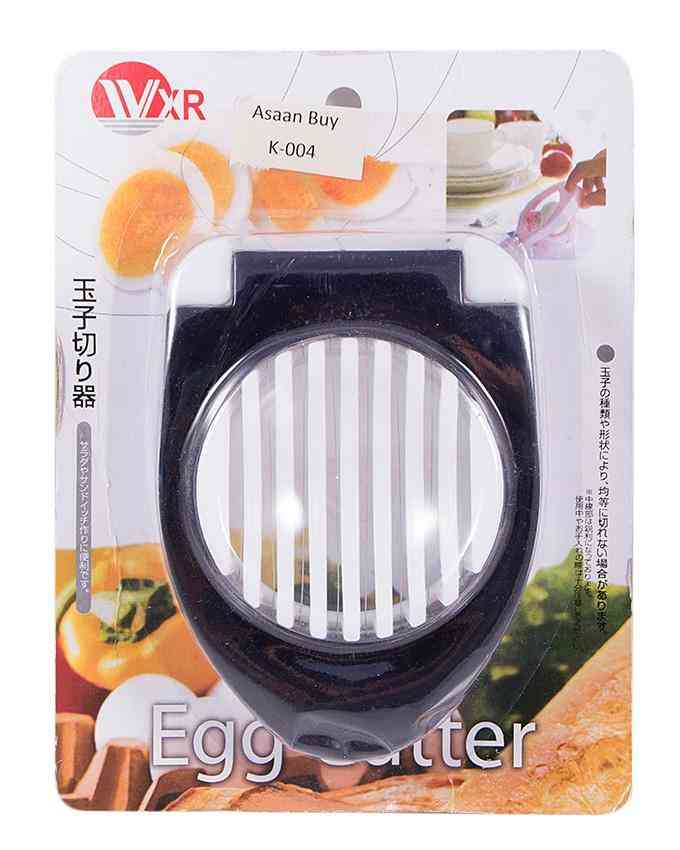 Egg Cutter Stainless Steel Wires Egg Slicer - Black