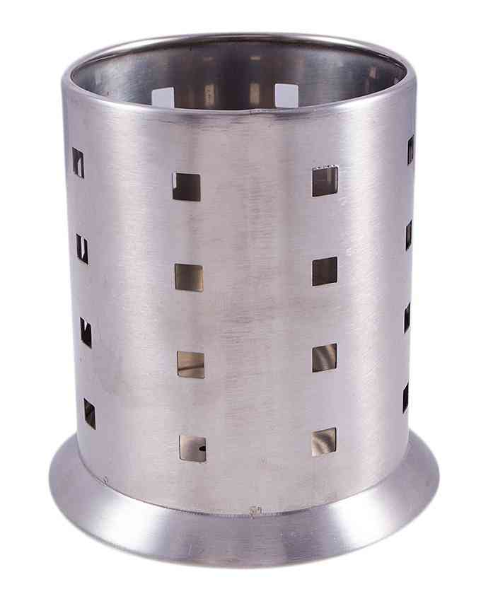 Stainless Steel Mesh Pen Container Pencil Cups Desk Organizers Holders for Home Office (5 Inch) - Silver