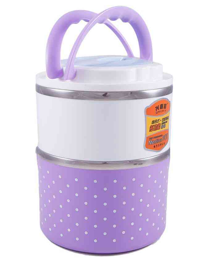 Portable Pot Portable 2 Layer Lunch Box Hot Pot For Picnic Home Usage