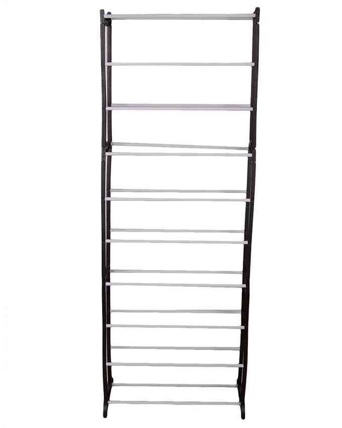 Shoe Rack, Large Capacity Shoe Organizer,10 Tiers 50 Pairs Shoe Shelf Durable and Stable Shoe Storage (Black)