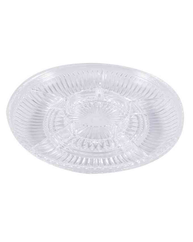 Crystal Acrylic Candy Tray Table Tray For Coffee Table Bowl Circle