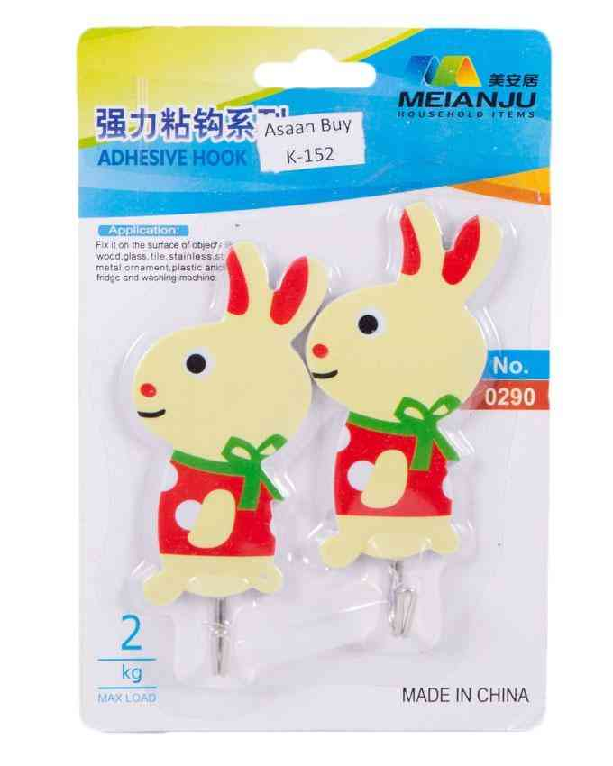 Pack of 3 Rabbit Wall Hooks For Bathroom Kitchen Home Usage