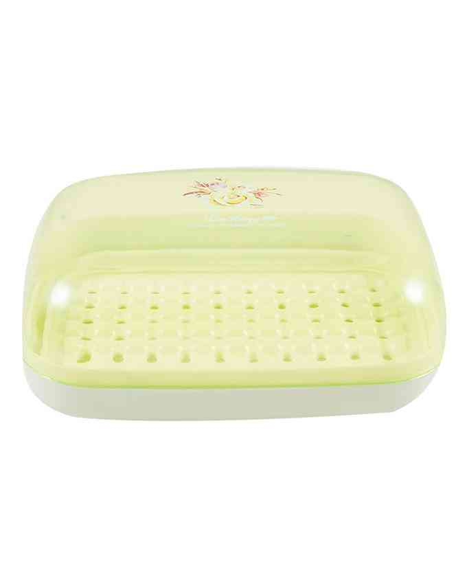 Travel Soap Case Box Holder With Strong Sealing, Portable Leak Proof - Green