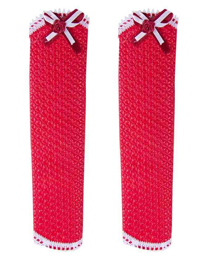 Fridge Handle Cover Set Washable (8.5 Inch) - Red