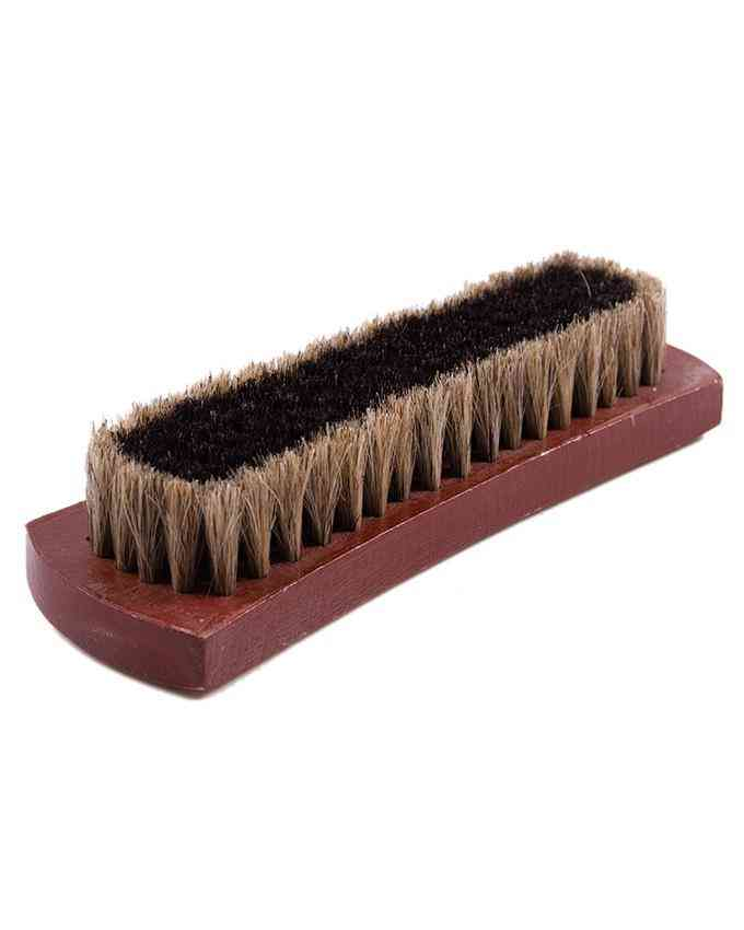 "7"" Mongolian Horsehair Shine Brush Shoe Brush with Wood Handle"