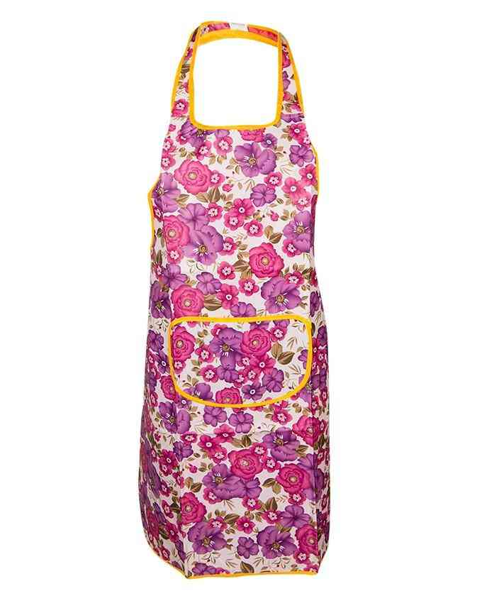 Adjustable Bib Apron with Pockets for Women and Men - Multicolour