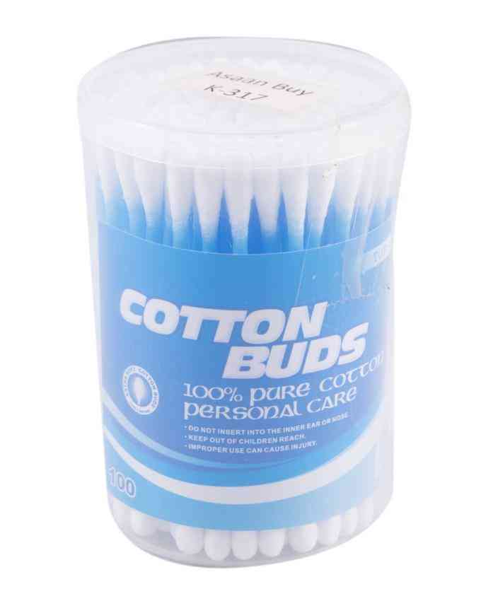 Pack of 100 Cotton Buds Ear Cleaner - Blue